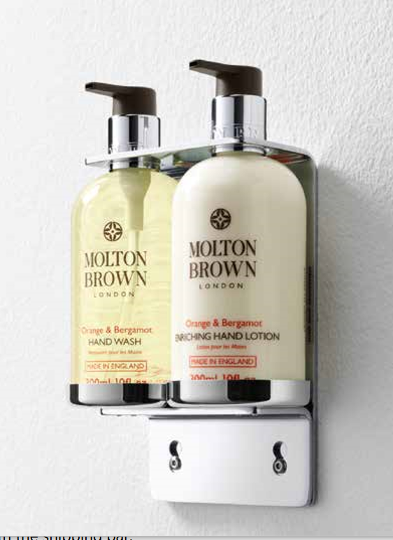 Molton Brown bathroom products at Maison La Cerisaie